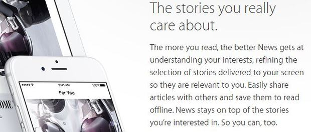 How Apple advertises its new 'Apple News' app to consumers
