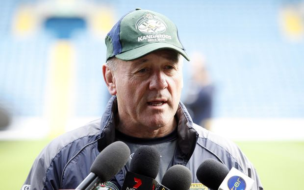 Tim Sheens speaks to the media.
