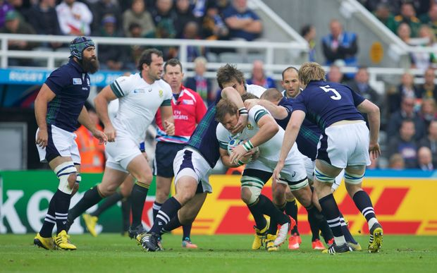 South Africa play Scotland at RWC2015