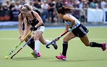 Black Sticks player Anita Punt during their 2015 South Island Tour game between the New Zealand Black Sticks Women v Argentina. College Park, Blenheim, New Zealand. Sunday 4 October 2015. Copyright Photo: Chris Symes / www.photosport.nz