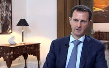 An image grab of Syrian President Bashar al-Assad speaking during an interview broadcast by Khabar TV, the news channel of the Islamic Republic of Iran.