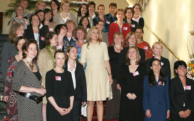 Dutch Crown Princess Maxima attends the installion of the 19 female top scientists, the Rosalind Franklin Fellows, at the Rijksuniversiteit in Groningen, the Netherlands, 20 May 2009. Photo: Albert Nieboer