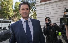 Former New Zealand cricketer Chris Cairns arrives at The City of Westminster Magistrates Court.