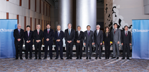 Ministers at the start of TPP talks in Atlanta.