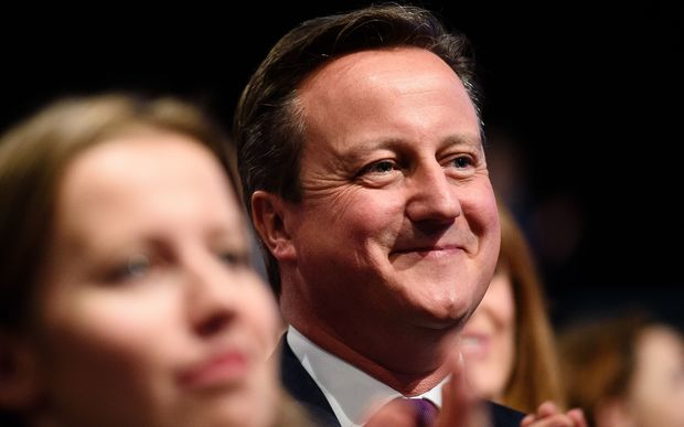 David Cameron at the Conservative Party conference in Manchester yesterday.