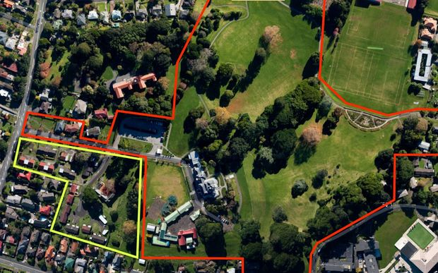 The council plans to add the yellow-bordered Liston Village to the red-bordered Monte Cecilia Park.