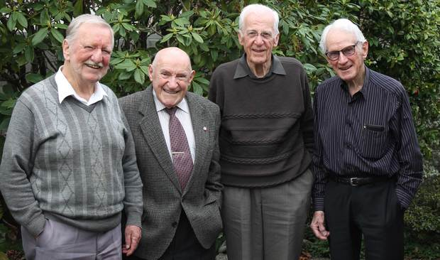 Christchurch Jazz Musicians, (from left) Harry Voice, Doug Caldwell, Gerald Marston and Doug Kelly.