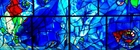 Stain glassed window designed by Chagall