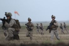 US Marines taking part in a training exercise.