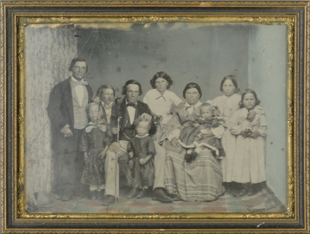 Some of  Akaroa's original settlers:  Etienne Francois Lelieure, and Justine Rose de Malmanche with their family.