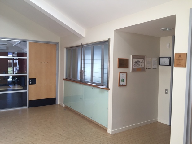 The Ambulance Station's reception area