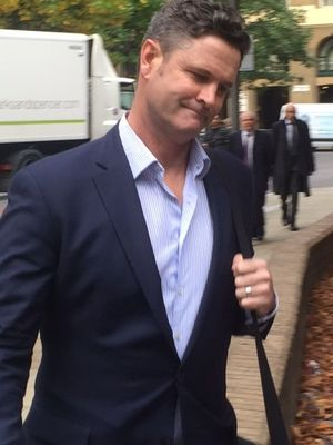 Chris Cairns enters Southwark Crown Court in London on Monday 12 October 2015.