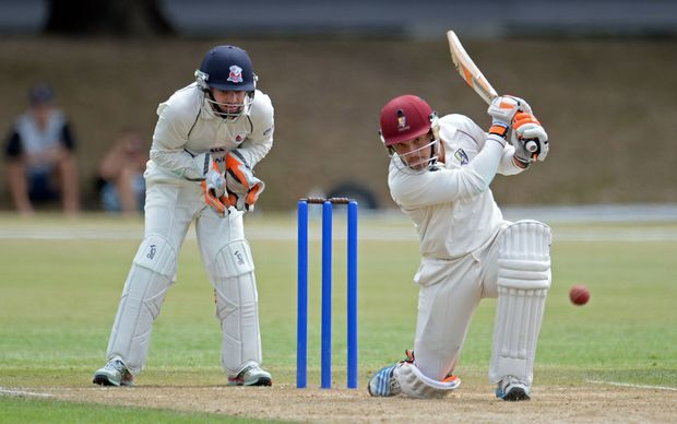 Northern Districts Test star BJ Watling in action against Central