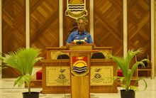 Kiribati President Anote Tong at Tarawa climate change summit