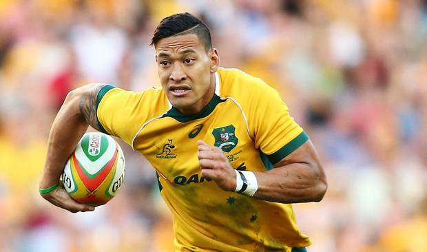 Israel Folau of the Wallabies.