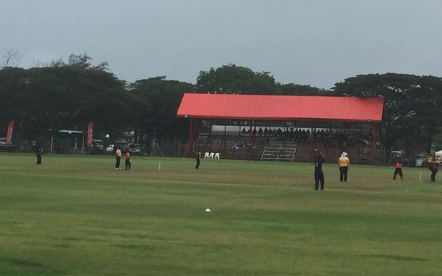 Amini Park cricket ground in Port Moresby, during the 2015 Pacific Games.