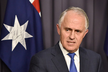 Malcolm Turnbull speaks during a news conference after winning the party leadership ballot on 14 September.