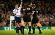 All Blacks celebrate a try against France RWC2015.
