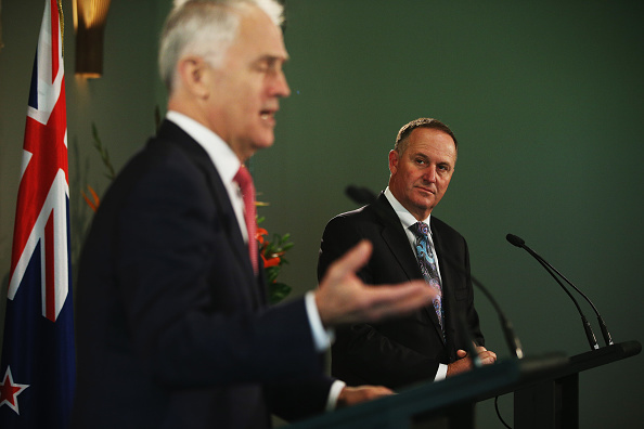 Australian Prime Minister Malcolm Turnbull and New Zealand Prime Minister John Key