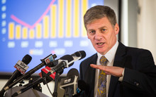 Bill English announcing surplus, Oct 2015
