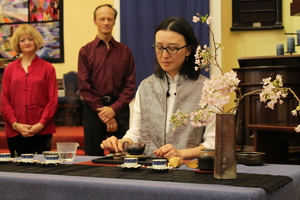 A traditional tea ceremony opens the concert