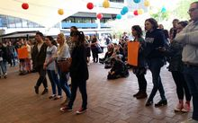 Student protesters at the University of Auckland