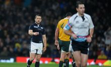 Craig Joubert runs from the field RWC2015