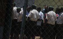MPs and their lawyers left Port Vila correctional centre after their court bailing.
