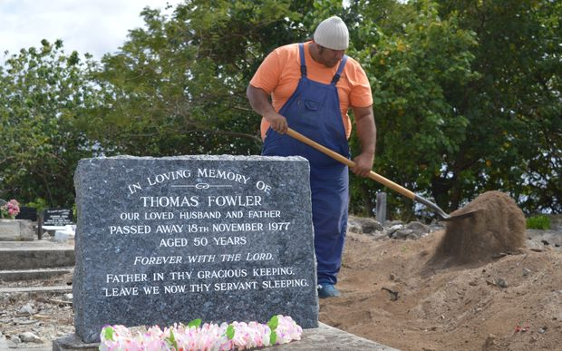 The local RSA has been helping tend the cemetery known as Brychyard on Rarotonga