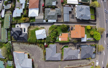 Birds eye view of Palmerston North housing.