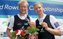 World championship men's pair Eric Murray (left) and Hamish Bond.