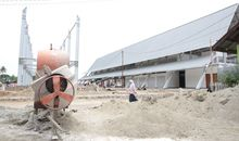The new Pharaa Market under construction in Sentani, Papua