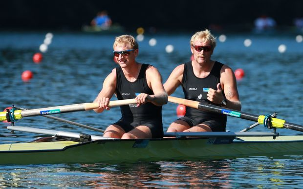 Hamish Bond and Eric Murray enjoy another win at the 2015 World Cup event in Lucerne.