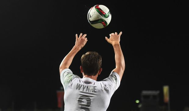 Deklan Wynne played for New Zealand at the Under-20 World Cup in June, seen here in action for the Junior All Whites against the USA at North Harbour Stadium, Auckland, Tuesday 2 June 2015. Copyright Photo: Andrew Cornaga / www.photosport.co.nz
