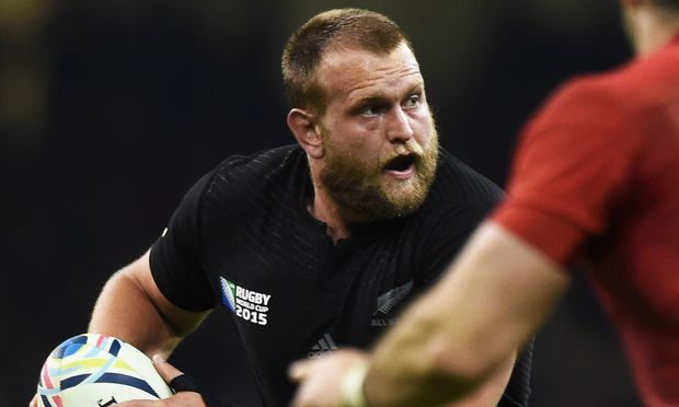 Prop Joe Moody during the All Blacks v France quarter-final.
