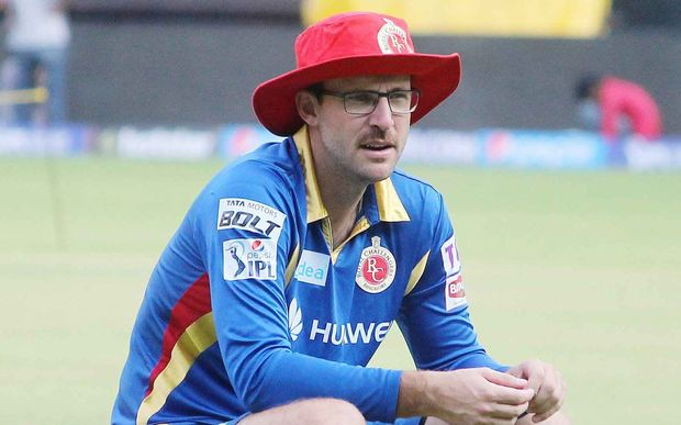 Daniel Vettori coaching the Royal Challengers Bangalore team this year.
