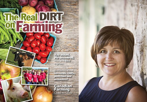 Kelly Daynard and her book The Real Dirt on Farming.