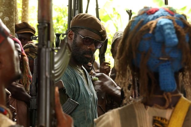 Idris Elba as Commandant in Cary Fukunaga's feature film Beasts of No Nation