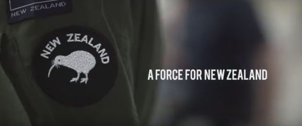 A screenshot from a New Zealand Defence Force recruitment video.