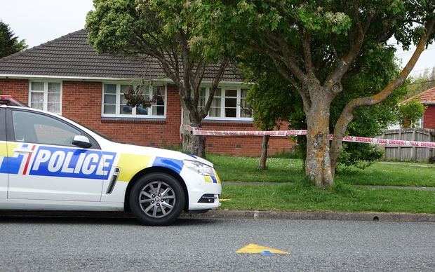 The cordoned off house in Taita, Lower Hutt.