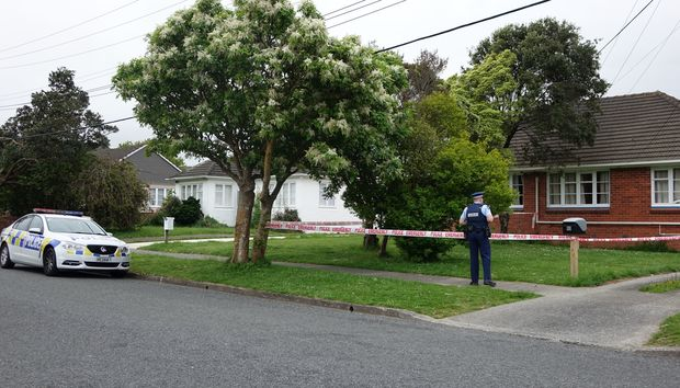 The scene of the shooting in Taita, Lower Hutt.