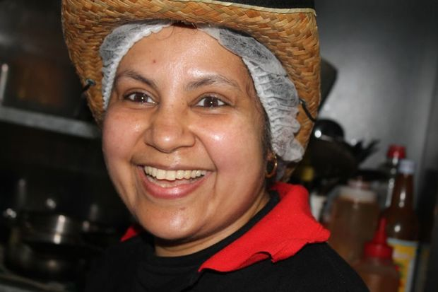 Ramani  Alwis in her restaurant kitchen