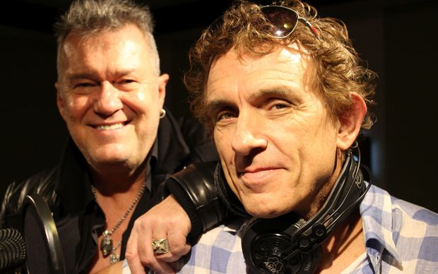Jimmy Barnes and Ian Moss in the RNZ Auckland studio.