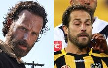 Wellington Phoenix captain Andrew Durante (L), Rick Grimes from The Walking Dead (R)