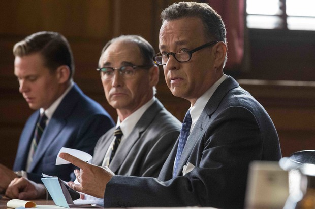 Mark Rylance and Tom Hanks in Steven Spielberg's Bridge of Spies
