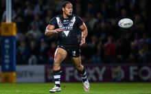 Martin Taupau in action for the Kiwis against Leeds Rhinos at Headingley Stadium, Leeds, England. Photo credit: Alex Whitehead / www.photosport.nz