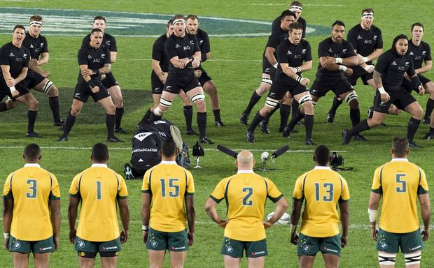 6531ac8f2ae ... Rugby World Cup final at Twickenham. The Wallabies face the Haka at  Eden Park, 2015.