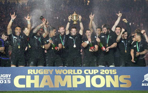 World Cup champions All Blacks RWC2015
