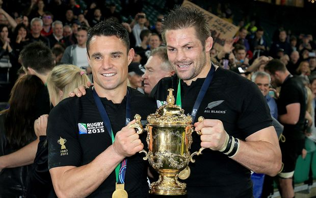 Dan Carter and Richie McCaw RWC2015