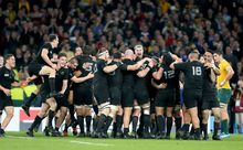 All Blacks celebrate RWC2015